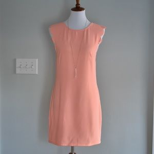 Coral Scallop Shift Dress